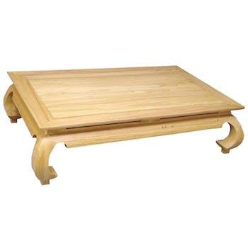 Table basse Opium hévéa 130x80x35cm MAORI