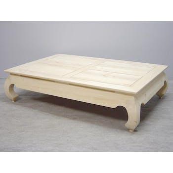 Table basse Opium hévéa 140x90x35cm MAORI