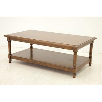 Table basse rectangulaire hévéa L100xP60xH40 TRADITION