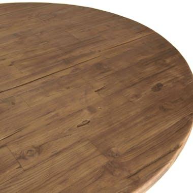 Table basse ronde double plateau métal blanc D 120 cm SWING