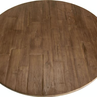 Table basse ronde teck recyclé métal noir D 120 cm SWING