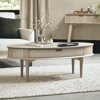 Table basse scandinave avec tiroir COPENHAGUE