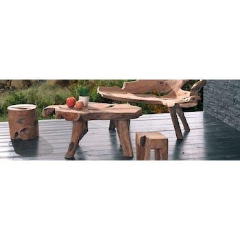 Table basse en bois massif de racine de style exotique