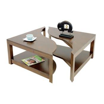 Table basse vague carrée TRADITION 85 cm