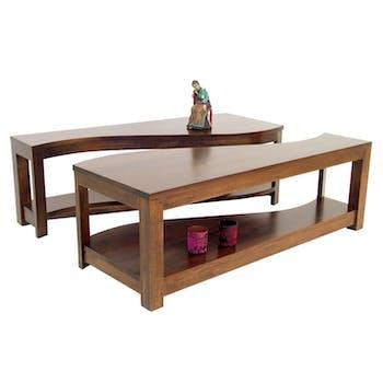 Table basse vague TRADITION 120 cm