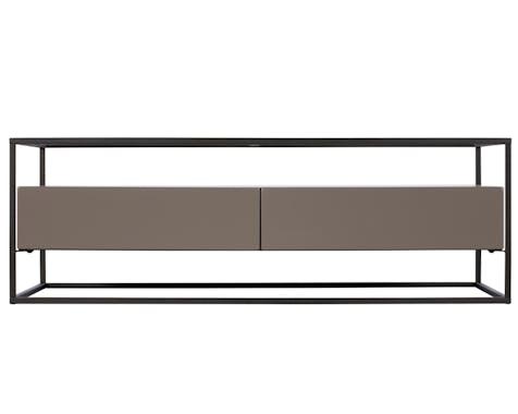 Table basse verre et métal TORONTO