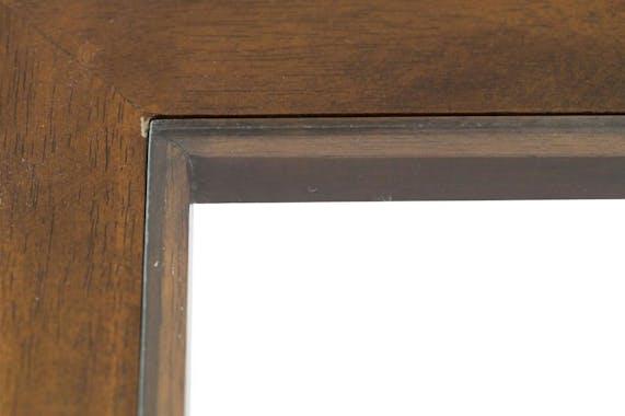 Table basse vitrée hévéa 80X80xm HELENA