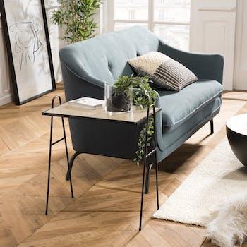 Table d'appoint design pieds métal noir BANGALORE