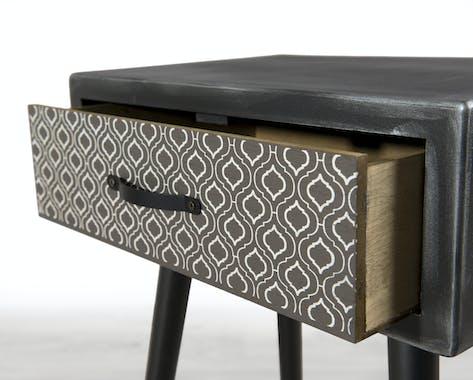 Table de chevet 1 tiroir vintage LEONARD