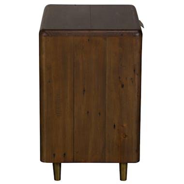 Table de chevet bois recyclé brun QUEENSTOWN