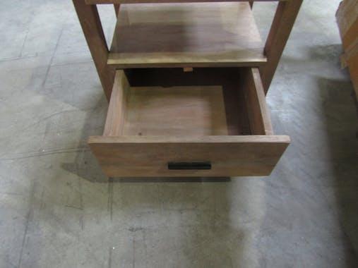 Table de chevet bois sablé 2 tiroirs CASABLANCA