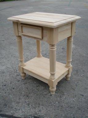 Table de chevet classique bois hévéa TRADITION