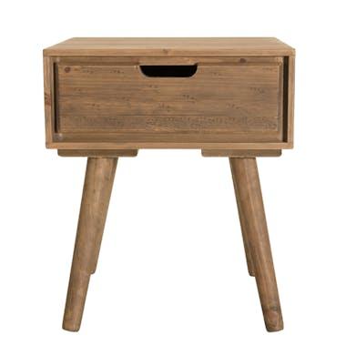 Table de chevet en bois de sapin 1 tiroir LIMA