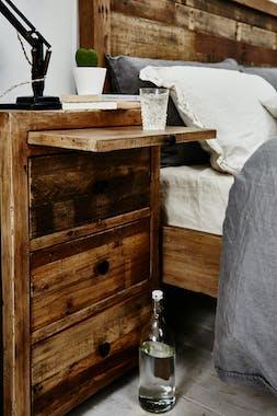 Table de chevet en bois recyclé BRISBANE
