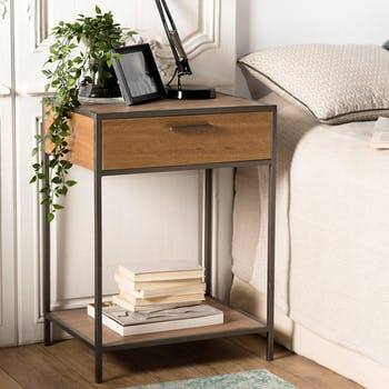 Table de chevet moderne 1 tiroir CARPATES