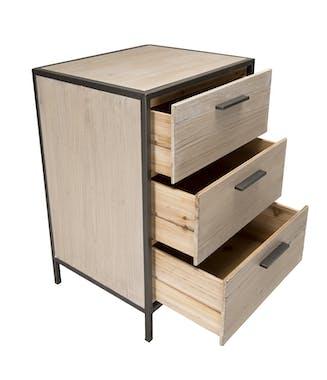 Table de chevet moderne 3 tiroirs CARPATES