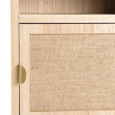 Table de chevet moderne toile de jute CORDOUE