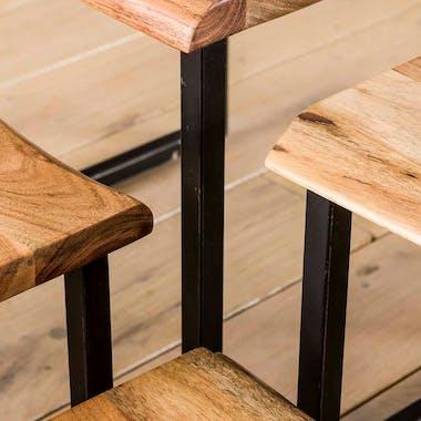 Table de chevet murale en bois et métal MELBOURNE