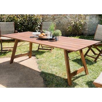 Table de jardin 10 personnes acacia 220x90 SUMMER