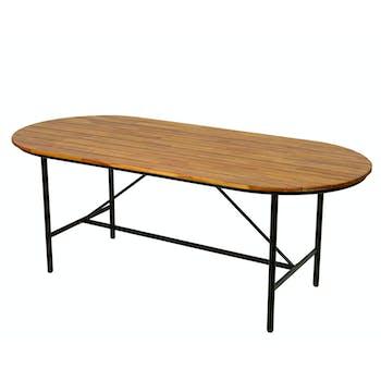 Table de jardin bois d'acacia 200 cm
