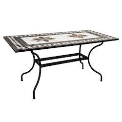 Table de véranda en mosaïque 160 cm GRENADE