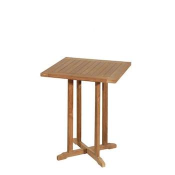 Table de jardin en Teck brut carrée bistrot 60cm SUMMER