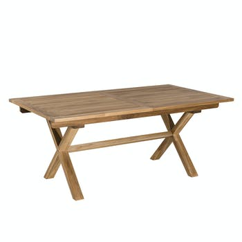 Table de Jardin extensible Teck 180/240x100x75cm SUMMER ref. 30020807