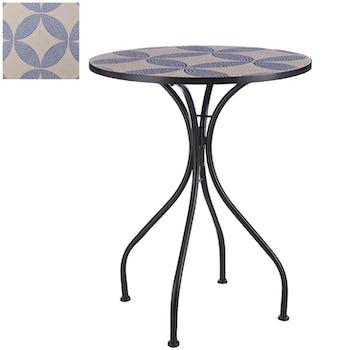 Table de jardin mosaïque bleue GRENADE
