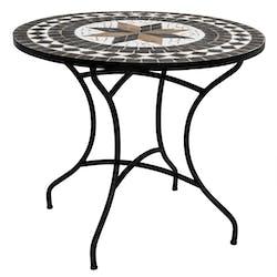 Table de véranda ronde en mosaïque D 90 GRENADE