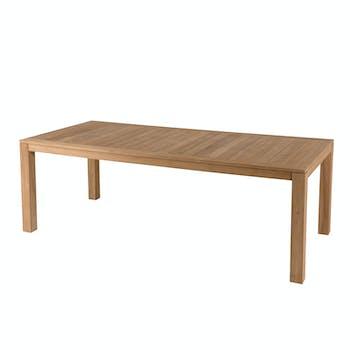 Table de Jardin Teck 220x100x77cm BERGEN ref. 30020832