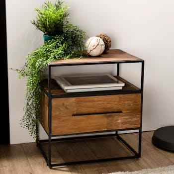 Table de nuit bois recyclé SWING