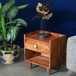 Table de nuit en bois d'acacia EDIMBOURG