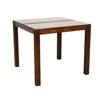 Table de repas carrée Hévéa 85x85x76cm GALA