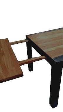 Table a manger extensible en bois et metal style indutriel