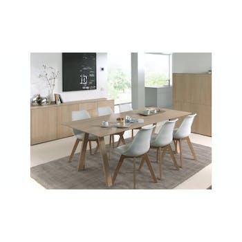 Table de Repas extensible en Chêne massif naturel 180/232x90x76cm EPURE