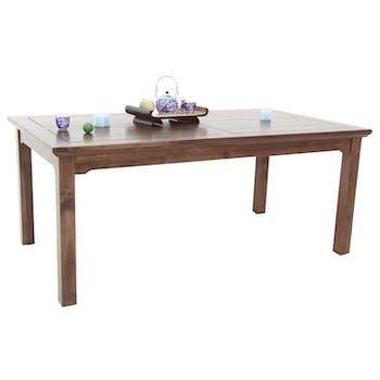 Table de repas Hévéa 180x100x75cm MAORI