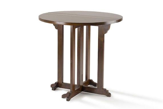 Table de repas ronde pliante hévéa D80cm TRADITION