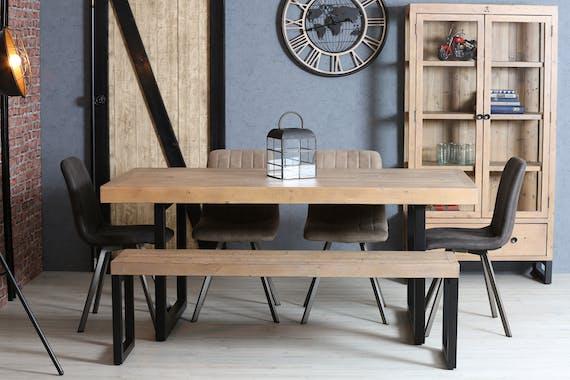 Table de salle à manger en bois recyclé 180 cm AUCKLAND
