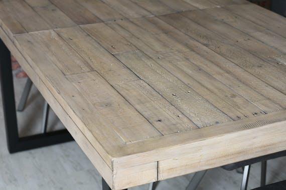 Table de salle à manger extensible en bois recyclé 180-240 cm AUCKLAND
