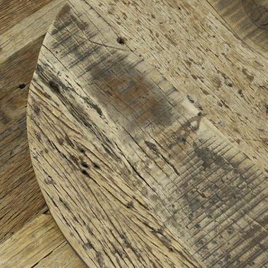 Tables basses gigognes en bois recycle et metal de style industriel