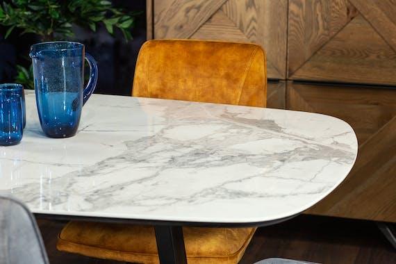 Table en céramique blanche 200 cm FLORENCE
