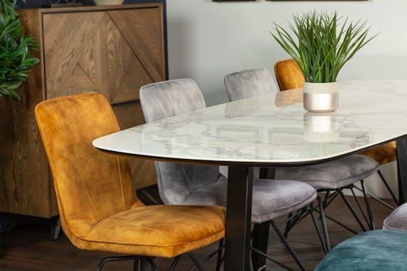Table en céramique blanche 240 cm FLORENCE