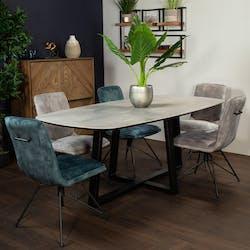 Table en céramique grise 200 cm FLORENCE