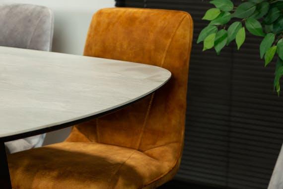 Table en céramique grise 240 cm FLORENCE