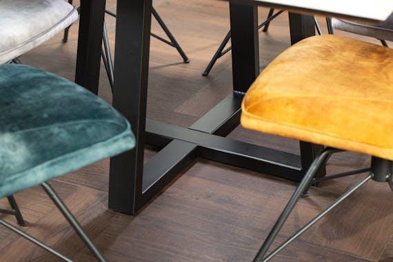 Table en céramique grise carrée 140 cm FLORENCE