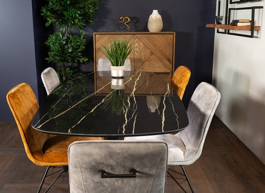 Table en céramique noire 200 cm FLORENCE