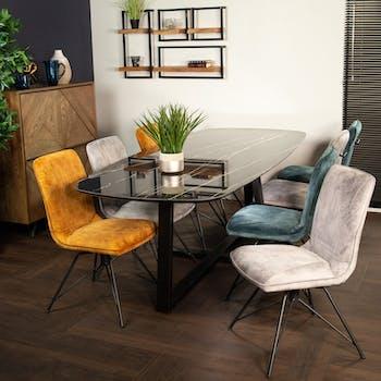 Table en céramique noire 240 cm FLORENCE