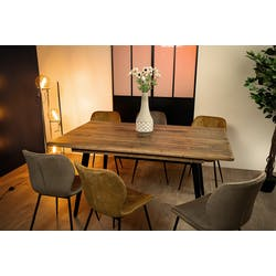 Table extensible 160-203 bois recyclé BRISBANE