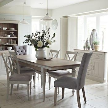 Table a manger extensible bois gris style deco bord de mer