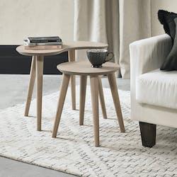Table gigogne scandinave (lot de 2) COPENHAGUE